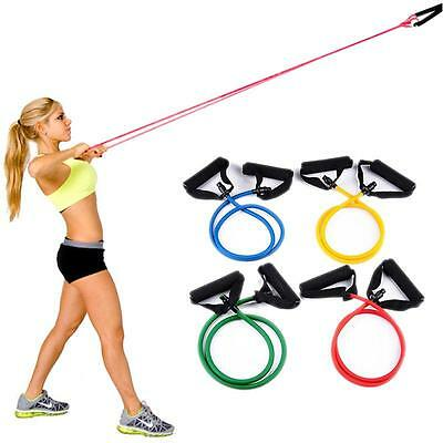 Resistance Band Body Buliding Workout Exercise Fitness Yoge Tube Stretch