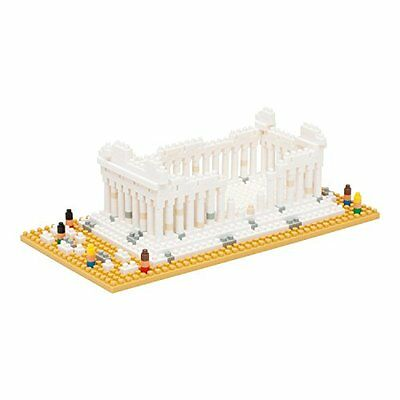 Kawada NBH-066 Nanoblock Parthenon Greece Athens Building Kit F/S from Japan