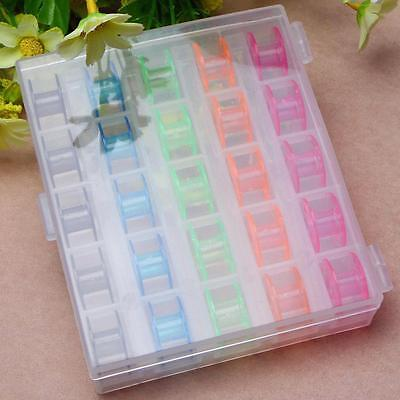 25 Plastic Colour Random Home Bobbins for PFAFF Sewing Machines Mother's Gift ED