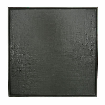 """1x Japanese 11.5""""Sq BlkText Nonslip  Lacquer Tray#270-950"""