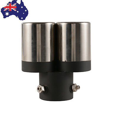 Double Tailpipe Exhaust Muffler Tail Pipe Tip Inside Diameter 6cm (2.4'') AU