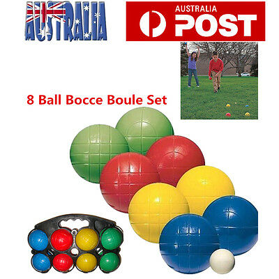 Bocce Ball 8 Pieces Set in Carry Frame Kids Fun Game Beach Backyard Picnic