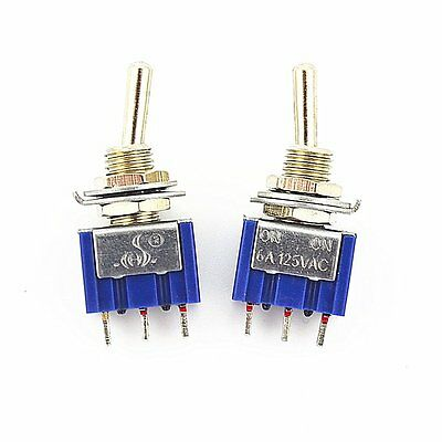 20Pcs 3 Pin 2 Position On-On SPDT Mini Latching Toggle Switch AC 125V/6A 250V/3A