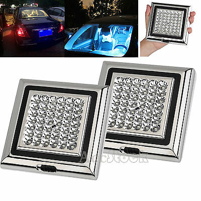 2x Bright White 42 LED Car Van Vehicle Roof Ceiling Dome Interior Light Lamp 12V