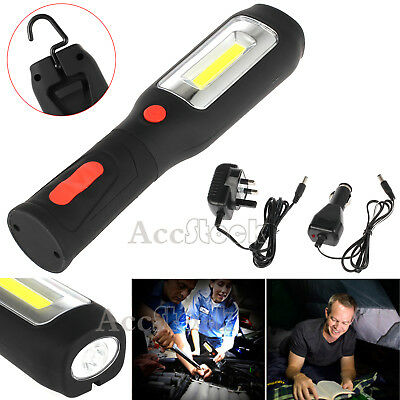 30+5 LED Rechargeable Work Light Inspection Hand Lamp Magnetic Flexible Torch UK