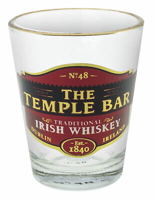 Loose Shot Glass With Temple Bar Traditional Irish Whiskey Design