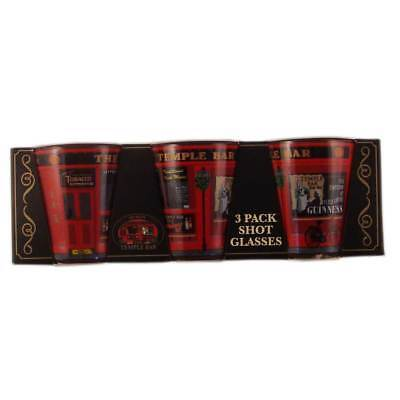 Three Pack Shot Glasses With Temple Bar Design