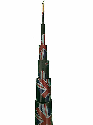 6M United Kingdom Strongest Telescopic Flag Pole.For Camping, Caravan, Festivals