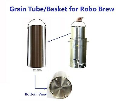 Robo Brew Stainless Steel Grain Tube/Basket for All Grain Brewing to Replace bag