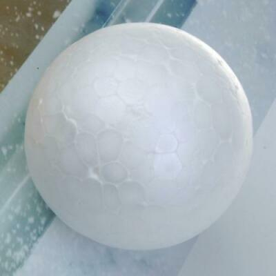White 10x Styrofoam Foam Snowman Craft Sphere 10cm Christmas Modelling Ball 7cm