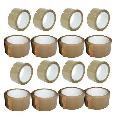 ROLLS OF BROWN BUFF PARCEL PACKING 48mm x 66M PACKING ADHESIVE TAPE