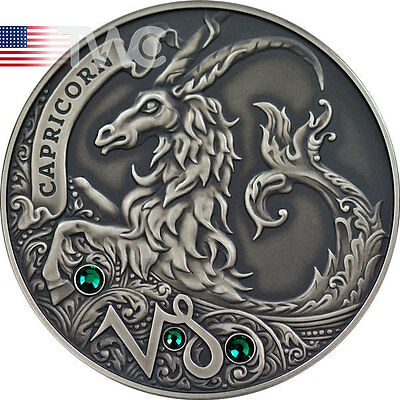Belarus 2013 20 rubles Capricorn Signs of the Zodiac  Antique finish Silver Coin