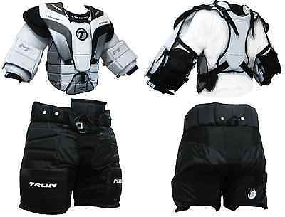Tron Goalie Equipment Package Combo Set  - Chest and Arm Protector and Pants