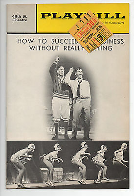 Hot To Succeed In Business 46th St. Theatre Playbill 1963 NYC Robert Morse VG