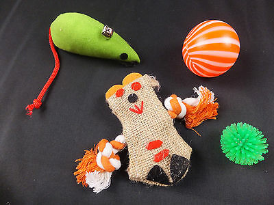 4 Piece Cat / Kitten Toy Set   CTO 07