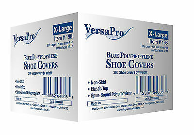 VersaPro 300 Shoe Covers non-skid / Medical Booties X-LARGE (to Men's Size 14)