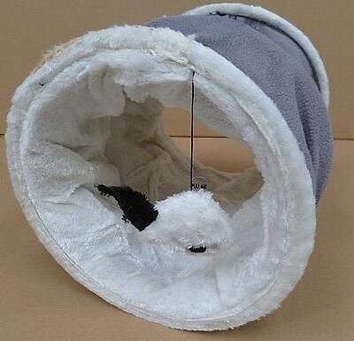 Play Tunnel with Squeaky Mouse for Cats Choice of Colours   CTO 10