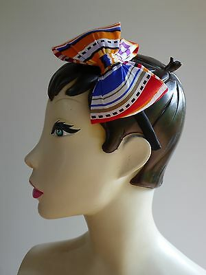 Vintage retro true 80s headband bow fascinator hat