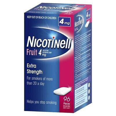 * Nicotinell Chewing Fruit 4Mg Extra Strength Gum 96 Pieces Pcs