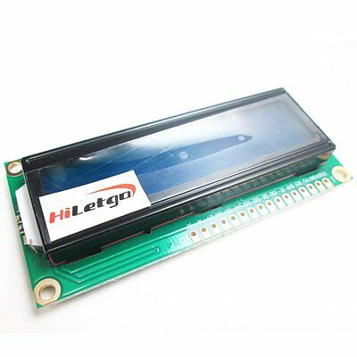 DC 5V HD44780 1602 LCD Display Module 16x2 Character LCM Blue Blacklight NEW