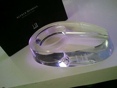 Vintage Alfred Dunhill Crystal Cigar Ash Tray with box