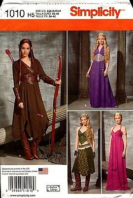 Simplicity Sewing Pattern 1010 Misses Fantasy Costumes 6-14 or 14-22 NEW