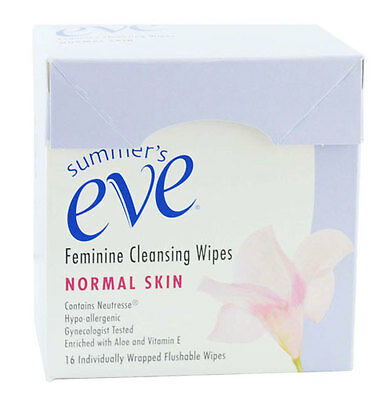 Summer's Eve Cleansing Wipes Normal Skin - Flushable and convenient