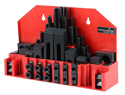"58pcs Deluxe Steel Clamping Kits, Table Slot 5/8"", Stud Size 1/2""-13, #4230-2626"