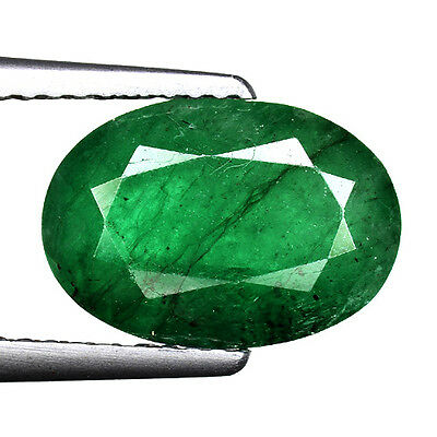 """2.95cts Green Oval Emerald Natural Loose Real Gemstone """"SEE VIDEO"""""""