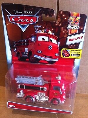 DISNEY CARS DIECAST - Red - The Fire Truck -Deluxe - New Card - Combined Postage