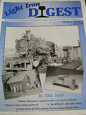 Model Railway Light Iron Digest July 2000 Argent Lumber Co Tionesta Valley