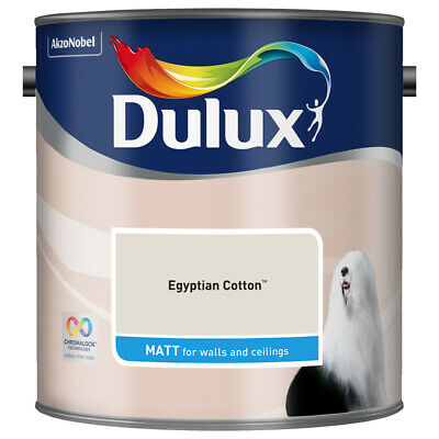 Dulux Smooth Emulsion Matt Paint - Egyptian Cotton - 2.5L - Walls and Ceiling