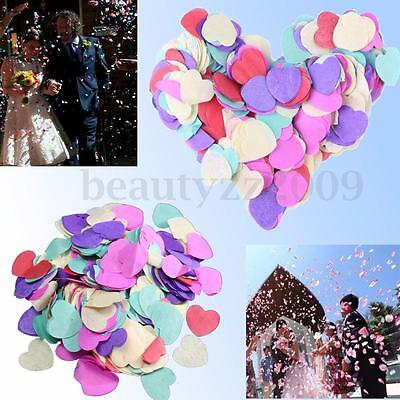 1000x Heart Wedding Paper Confetti Supplies Table Party Scatters Decoration 26MM