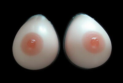 1 Pair Silicone False Breast Forms Transvestites Enhancer Insert A/B/C/D Cup EE