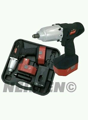 """Neilsen Heavy Duty 24V 1/2"""" Drive Cordless Impact Wrench Gun With 2 Batteries."""