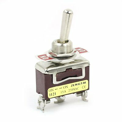 AC 250V 15A SPDT ON-ON 2 Positions Latching Power Toggle Switch