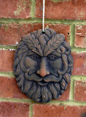 Green Man Oval Wall Plaques Terracotta Garden Ornament for Wall New