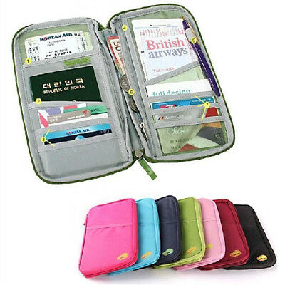 Travel Wallet Organizer Passport Credit Card Holder Document Bag US Warehouse