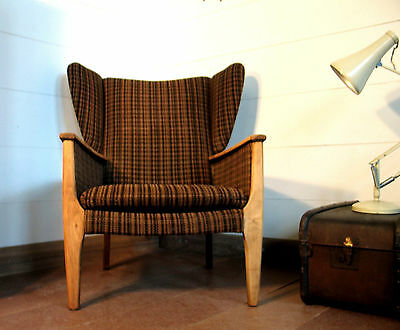 vintage retro wing armchair Mid Century Modern Parker Knoll chair 50s 60s