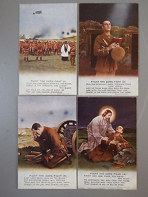 R&L Postcard: Bamforth Song Card Set Series 4870 Fight the Good Fight, WWI