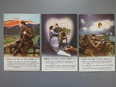 R&L Postcard: Bamforth Song Card Set Series 4973 When the War is Over Maggie