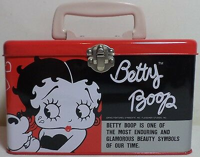 VHTF BETTY BOOP VTG TIN LUNCH BOX FROM '80's