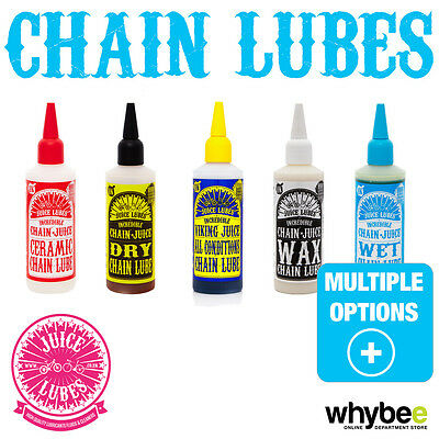 JUICE LUBES MOUNTAIN BIKE MTB CYCLING PRO GRADE CHAIN LUBE JUICE 130ml NEW!