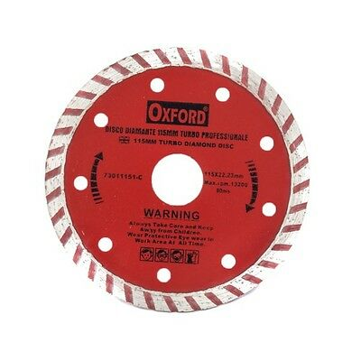 Disco Diamantato Turbo Per Flex Smerigliatrice 115 Mm Taglia Smeriglia