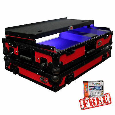 ProX Red Black Hard Flight Road Case Coffin for Pioneer DDJ SX SX2 RX **Free LED