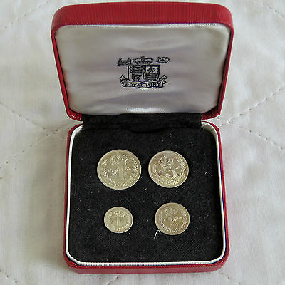 1962 QEII SILVER 4 COIN BOXED MAUNDY SET - mintage 1125 - 55th birthday