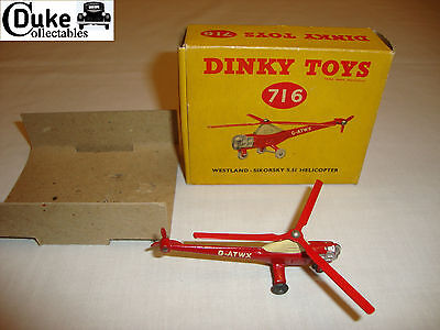 DINKY 716 WESTLAND SIKORSKY S51 HELICOPTER -  EXCELLENT in original BOX