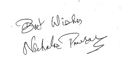 Nicholas Parsons Signed Card - A35 - Doctor Who & Carry On