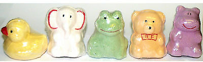 Animal Sugar Bath Bomb Fizzers - Set Of 5