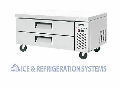 "Atosa Commercial 48"" 2 Drawer Chef Base Refrigerator Cooler Mgf8450"